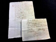 Lote de dos manuscritos española 1739