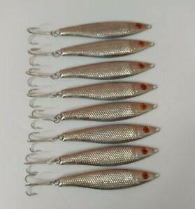 "(8) Luhr-Jensen 4.5 oz Crippled Herring 5"" Spoons Fishing Lures Lot of 8"