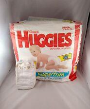 VINTAGE Huggies Supertrim BLUE MUPPET BABIES diapers Size M 12-24lbs Jim Henson