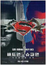 Batman vs Superman Dawn of Justice Mini Movie Poster Korean Movie Flyers A4 Size