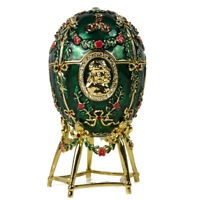Alexander Palace Faberge Egg Replica Trinket Box, Easter Gift, 15 cm, Green