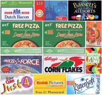 Retro/Vintage Phonecards - Different International Brands - Picks yours.