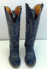 Womens Size 4 1/2 C Nocona Blue Western Cowboy Boots