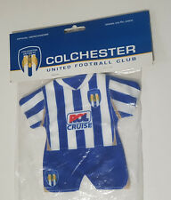 COLCHESTER UNITED OFFICIAL MERCHANDISE LITTLE OUTFIT IN PACKET TO HANG FROM MIRR