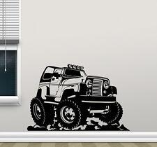 Jeep Wall Decal Wrangler Truck Poster Sports Vinyl Sticker Kids Art Decor 204hor