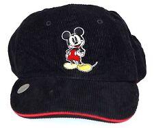 Mickey Mouse Corduroy Hat Baseball Cap Black Disney Brand Embroidered