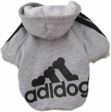 New listing Moolecole Adidog Pet Dog Hooded Clothes Apparel Puppy Cat Small Dog