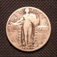 1926 S Standing Liberty Quarter - Very Good VG