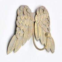 Golden Gold Pretty Angel Wings Cherubs Wing Coat Hook Hooks Wall Mounted Door Ho