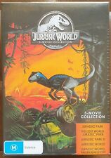 Jurassic World 5 Movie Collection DVD Box Set Brand New Region 4