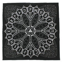 Rune Casting Tarot Cloth Pagan Norse Viking Witch Craft Bandana Altar Decor