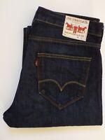 LEVI'S 506 JEANS MEN'S STANDARD STRAIGHT LEG W36 L29 DARK BLUE LEVQ869