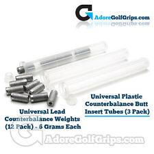 Universal Plastic Counterbalance Butt Insert Tubes (3 Pack)