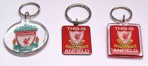 Liverpool FC Key Ring Red Clear Anfeild Football Club Birthday Gift Keyring LFC