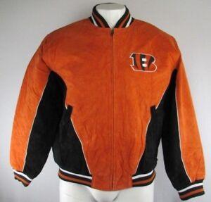 Cincinnati Bengals NFL Men's Orange G-III Full-Zip Suede Leather Jacket