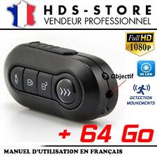 TÉLÉCOMMANDE CLÉ DE VOITURE CAMÉRA ESPION TCHD1 FULL HD 1080P + 64 GO 2 LED IR