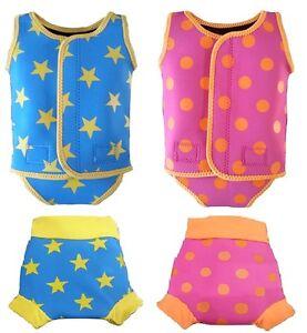IndigoKids baby toddler girl boy neoprene swimwear wetsuit swim suit & nappy set