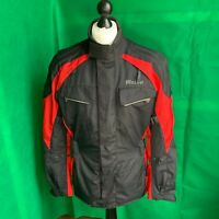 Weise Black & Red Textile Motorcycle Jacket Medium - Excellent Condition