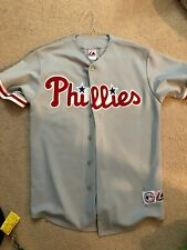 majestic philadelphia phillies sewn jersey size large