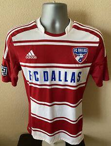 2012 Adidas FC Dallas Soccer Jersey Men's Small Striped MLS #22 EUC