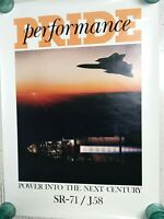 "Pratt Whitney Aircraft engines Poster SR-71 J58 Jet Engine Vintage 28"" x 20"""