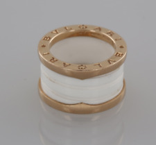 BVLGARI B. ZERO 1 18ct rose oro e bianco in ceramica Quattro Band Anello Box
