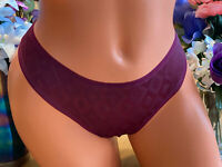 Victoria's Secret BODY 7/L Burgundy Wine Bikini Panties NWOT #177 Vintage B
