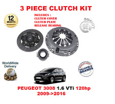 FOR PEUGEOT 3008 1.6 VTI 120HP 2009>2016 CLUTCH KIT WITH COVER PLATE + BEARING