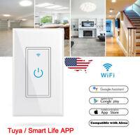 Smart WIFI Light Wall Switch Works w/ Alexa Google Home IFTTT Tuya/Smartlife App