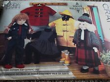 """CRAFT SEWING PATTERN V8556 CLOTHES FOR 18"""" SIZE DOLLS COAT HAT BOOTS JEANS OOP"""