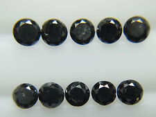 1.00 mm  3rd Number Natural Black Diamond Round   Diamonds 10 PC |@| 6