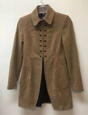 ZARA Basic Cotton Military Style Mandarin Collar Peplum Jacket Coat Women's XS