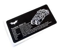 CUSTOM BATMAN PLAQUE STICKER for TUMBLER MODELS, TOYS, 76023 500459, ETC