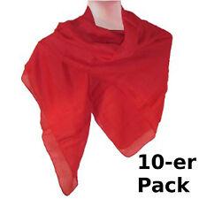 Pañuelo rojo pack 10 algodón 100x100cm fular accesorio moda