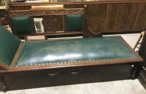 Antique Original Chaise Lounge on Castor Wheels