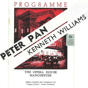 1953 Kenneth Williams in Peter Pan theatre programme Manchester Opera House