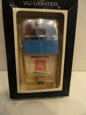 Vintage Scripto VU Lighter Beneficial Finance with Blue Band in Box