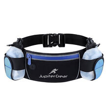 Running Hydration Belt Waist Bag with Water-Resistant Pockets & 2 Water Bottles