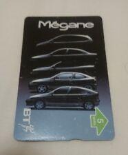 BT British Telecom PHONECARD - 5 Units - Renault Megane