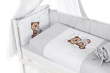 Baby 6-teilige Bettset für Beistellbett 90x40 Bettwäsche Chiffonhimmel Unisex