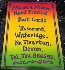 Advertising handprinted Postcards Moore & Moore Rosemont - posted