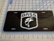 Bass fishing license plate tag