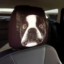 SALE CAR SEAT HEAD REST COVERS 2 PACK FRENCH BULLDOG DESIGN MADE IN YORKSHIRE