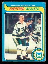1979 80 OPC O PEE CHEE NHL #175 GORDIE HOWE VG HARTFORD WHALERS HOCKEY CARD