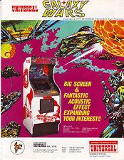 Universal Galaxy Wars Vintage Video Game Magazine Advertising Promo Ad Art