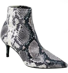 Charles by Charles David Amstel Stretch Knit Pointed Toe Booties - Natural Snake
