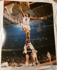 "Julius ""Dr J"" Erving Philadelphia 76ers signed 16x20 photo Jsa COA"