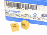 NEW SURPLUS 10PCS. VALENITE  SD  456NP  GRADE: V1N  CARBIDE INSERTS