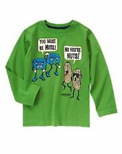 Crazy 8 Zany Guy Green You Must Be Nuts Tee Shirt Top L 10-12 NEW NWT