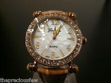 Genevex Ladies Gold Coloured Rhinestone Party Watch  **FREEPOST**